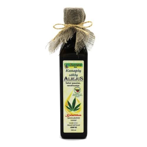 Kanapių sėklų šalto spaudimo aliejus (250ml)
